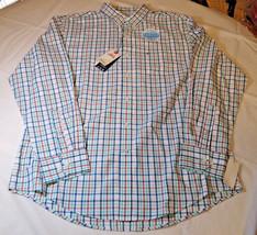 Mens Izod Saltwater The Breeze Shirt L/S button up shirt L Cascade 50650... - $45.04