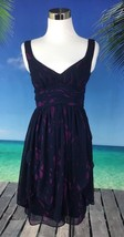 BCBG Generation Women's Dress Size 2 XS Sleeveless Blue Purple Lined V Neck 2041 - $15.43