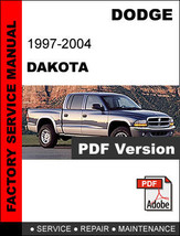 DODGE DAKOTA 1997 1998 1999 2000 2001 2002 2003 2004 SERVICE REPAIR MANUAL - $14.95