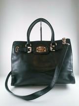 MICHAEL KORS Hamilton black w/ gold hardware satchel/shoulder/crossbody ... - $75.00