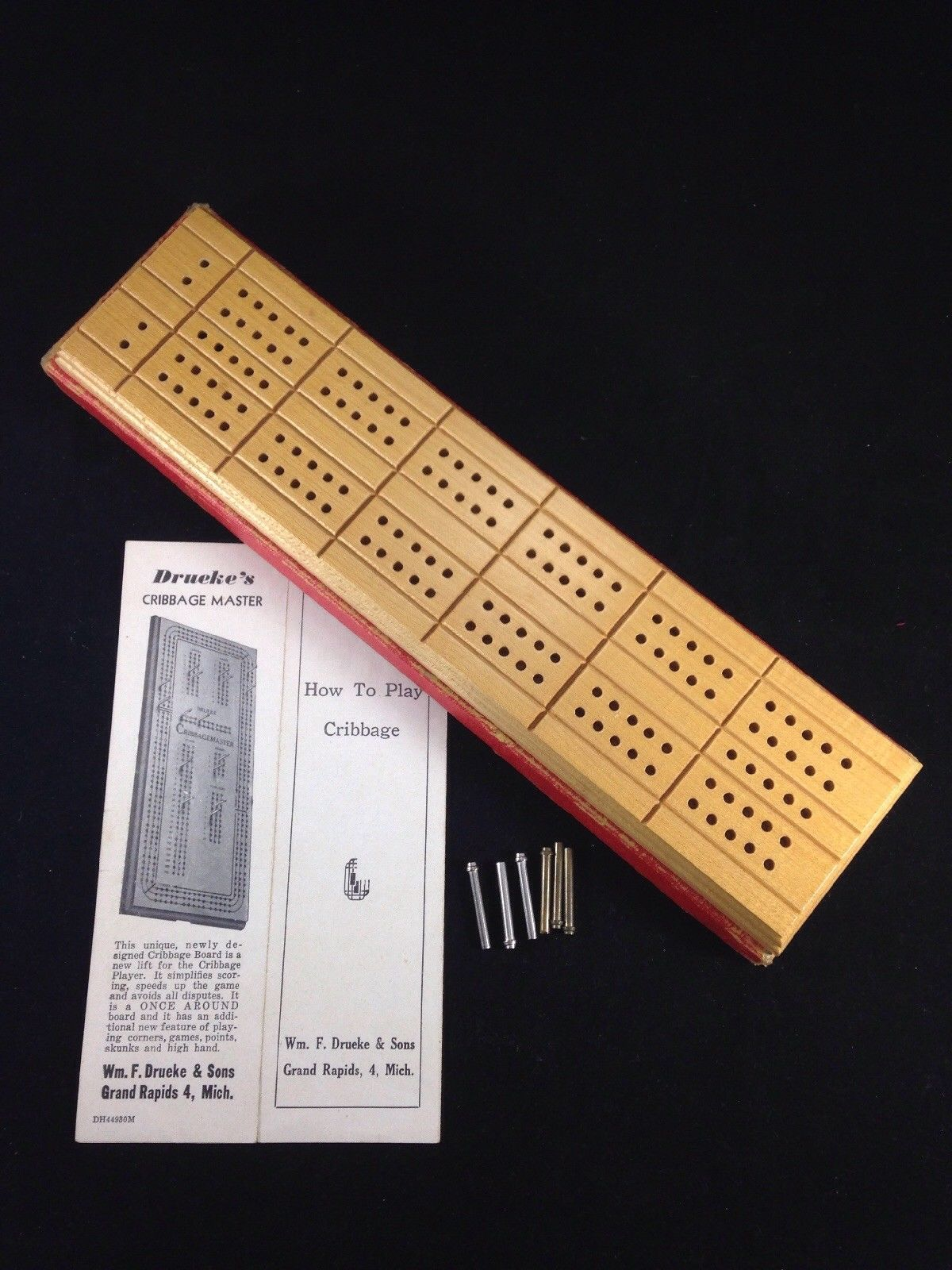 Drueke Vintage Wood Cribbage Master Board 5 And 18 Similar Items
