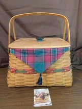 Longaberger 2000 Holiday Hostess Twelve Days Christmas Basket Protect Li... - $59.95