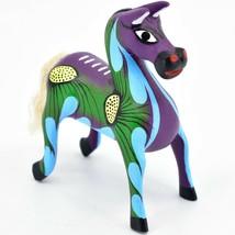 "Handmade Alebrijes Oaxacan Wood Carved Painted Folk Art Horse 3.5"" Figurine"