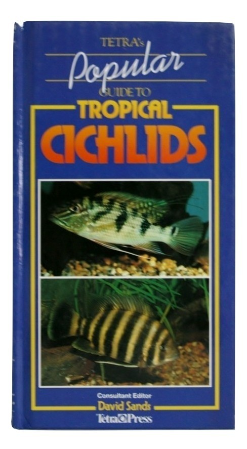 "Tetra's Popular Guide to Tropical Cichlids, Blue, New, 8.75""x4.5""x3/4"""