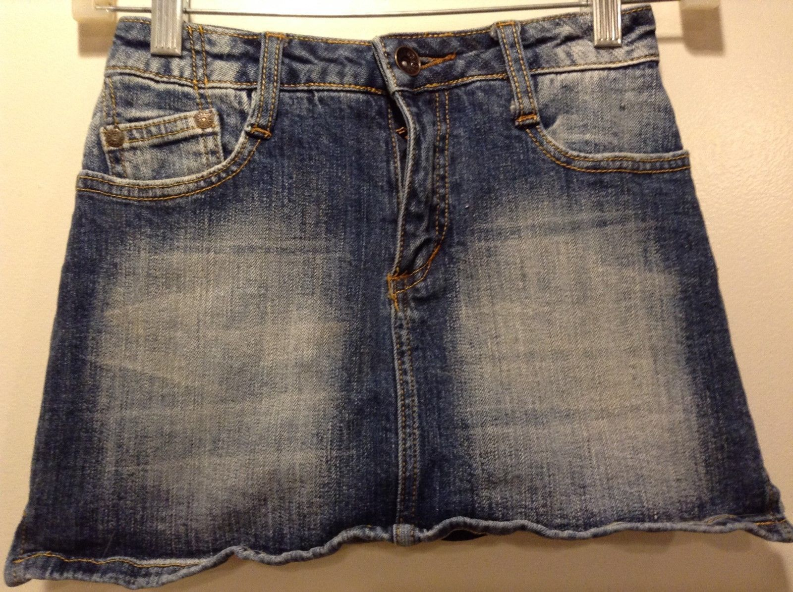 ZANA-DI Light Blue Medium Wash Blue Jean Skorts Sz 10