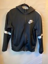 Nike Boys Zippering Hoodie Size Youth Large Black & White - $29.60