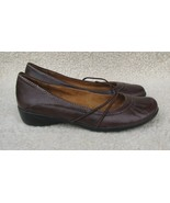 Naturalizer Natural Soul SHOES Brown Leather FLATS Woman's 6 M Round Toe... - $9.88