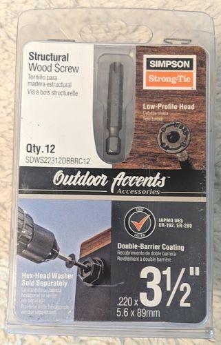 Simpson StrongTie SDWS22312DBBRC12 Low Profile Head Structural Wood Screw