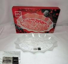 Mikasa Silent Night Crystal Oval Sweet Dish - $12.64