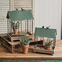 CTW Home Collection 770412 Green Roof Terrariums, Set of 2, 16.75-inch H... - $105.25