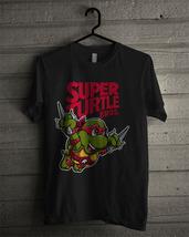Men's T-shirt Super Turtle Bros Raph New Black T-shirt & Women's - $15.94+