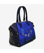 Peter Pan Disney LOUNGEFLY Tinkerbell Nightsky Flying Over London Purse ... - $69.29