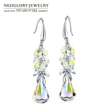 Neoglory MADE WITH SWAROVSKI ELEMENTS Crystal Long Dangle Earrings Alloy... - $21.51