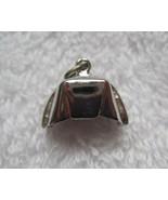 "Vintage Single Silver Charm Nurses Hat  Charm Bracelet 5/8"" Long Not Mar... - $18.32"