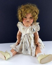 "Shirley Temple Vintage Ideal Composition Doll 20"" 1930s Blonde Mohair Wi... - $296.99"