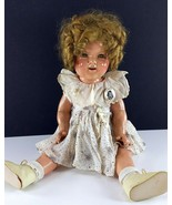 """Shirley Temple Vintage Ideal Composition Doll 20"""" 1930s Blonde Mohair Wi... - $296.99"""
