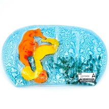 Fused Art Glass Seahorse Marine Ocean Design Soap Dish Handmade in Ecuador image 2