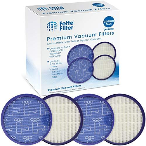 Fette Filter - Pre-Motor Filter and HEPA Post-Motor Filter Compatible with Dyson