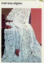 Irish Lace Afghan Cavendish Crochet Pattern/Instructions Leaflet - $3.12