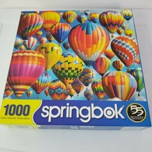 Springbok Jigsaw Puzzle Balloon Fest 1000 Piece Hot Air Balloons GUC - $25.72