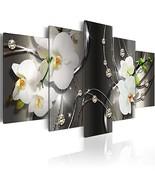 Everlands Art Huge White Orchid Flowers Contemporary Canvas Print Art Vi... - $89.98