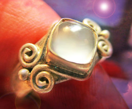 HAUNTED ANTIQUE CRYSTAL RING QUEEN WITCH HIGH MASTERY OF ALL MAGICK 7 SCHOLARS - $377.77