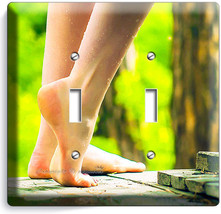 BARE FEET SOLES SEXY LEGS LIGHT SWITCH 2 GANG PLATE BATHROOM ROOM HOME A... - $11.69