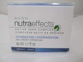 AVON NUTRAEFFECTS HYDRATION NIGHT GEL CREAM ACTIVE SEED COMPLEX 1.7 FL O... - $11.99