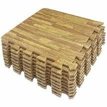 LaFamille Wood Grain Floor Mat 9 Tiles 9 sq.ft Foam Interlocking Puzzle ... - $15.94