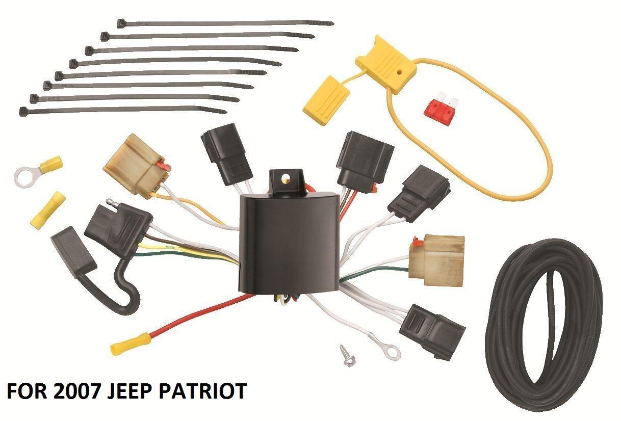 2007 Jeep Patriot Trailer Hitch Wiring Kit Harness Plug