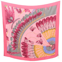 Hermes Shawl Stole Scarf BRAZIL Pink Silk Carre 140 DIP DYE Woman Auth U... - $723.70