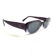 Calvin Klein 4022 117 Sunglasses Eyeglasses Frames Clear Purple Oval Full Rim - $56.09