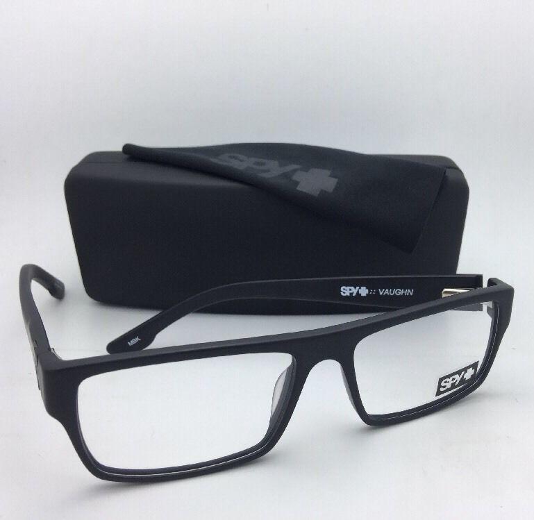 New SPY Optic Eyeglasses VAUGHN MBK 54-16 135 Matte Black Frame w/ Spring Hinges
