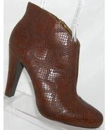 Jessica Simpson 'Minas' brown snake print side zip platform boots 8.5B - $30.40