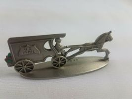 Hallmark Lot of 3 Pewter Steam Fire Engine U.S. Mail Wagon Open Topped Surrey image 7