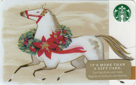 Starbucks 2014 Holiday Horse Collectible Gift Card New No Value - $4.99
