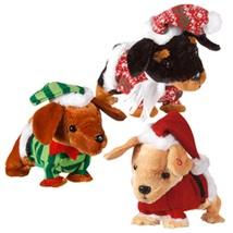 Set of 3 Musical Christmas Dancing Dachshunds NWT - $70.00