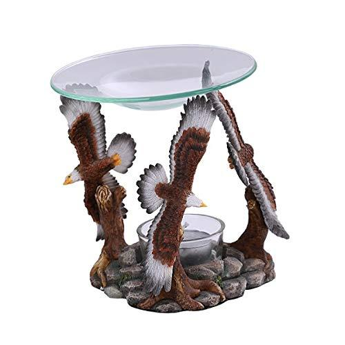 Pacific Giftware PT Flying Soaring Eagles Figurine Essential Oil Tea Candle Burn - $34.64