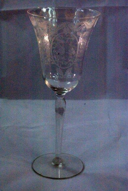 Primary image for Maryland Glass 1918 Lotus Springtime Clear AKA Diana And Cupid LargeWater Goblet