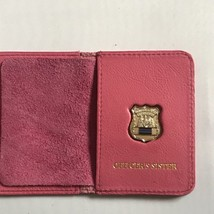 Police Officer  Sister    Generic Mini Shield   PINK Leather ID Wallet - 2018 - $25.74