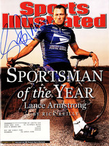 LANCE ARMSTRONG Signed 12/16/02 'Sportsman Of The Year' Sports Illustrat... - $187.11