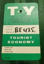 VINTAGE BOARDING PASS T-Y Instapkaart Einsteigekarte Vlucht Flight Strecke - $19.79