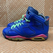 Nike Air Jordan 6 Retro GS Game Royal Youth 5 Basketball Shoes 543390-439 - $27.83