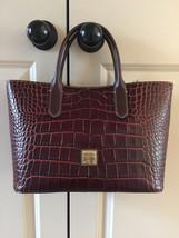 NEW Dooney & Bourke Croco Embossed Brielle Tote In color Cognac - $149.00