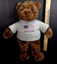 GUND Plush Brown Bear 2000 May Dept Special Edition Stars and Stripes Sh... - $16.82