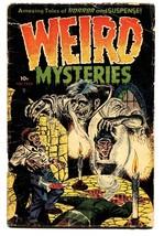 WEIRD MYSTERIES #3 1952-PRE-CODE HORROR-Dismemberment-Brutal! - $424.38