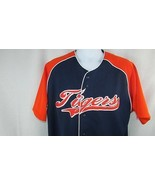 MLB True Fan DETROIT TIGERS Jersey Button Men's size Large Genuine Merch... - $19.79