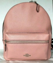 New Coach 30550 Medium Charlie Pebble Leather Backpack Petal - $135.00