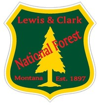 Lewis & Clark National Forest Sticker R3265 Montana YOU CHOOSE SIZE - $1.45+