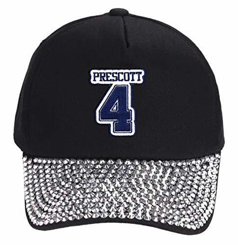 Dak Prescott #4 Hat - Dallas - Adjustable Unisex Black Studded Football Cap